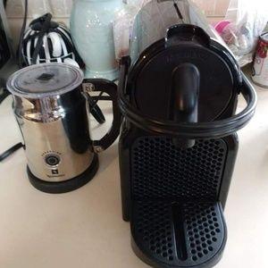 Nespresso Coffee Maker And Nespresso Milk Throtter